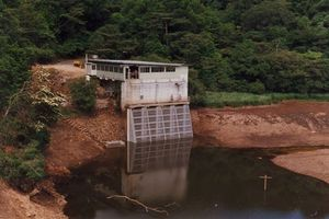 Intake filter for Hydro Power Station on the Tully River North Qld 1993